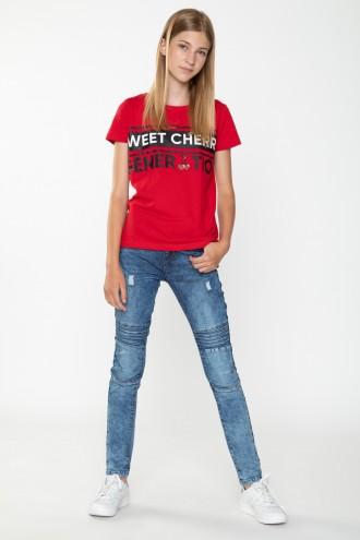 Jeansy z przeszyciami dla dziewczyny