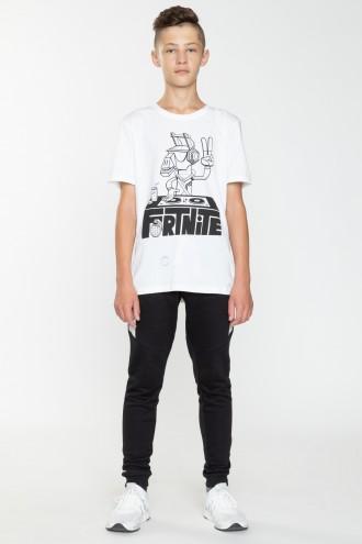 Biały T-shirt FORTNITE