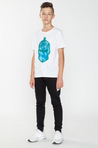 Biały T-shirt z nadrukiem FORTNITE
