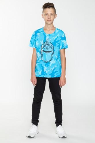 Niebieski T-shirt moro FORTNITE