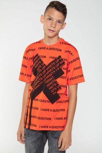 Pomarańczowy T-Shirt dla chłopaka X