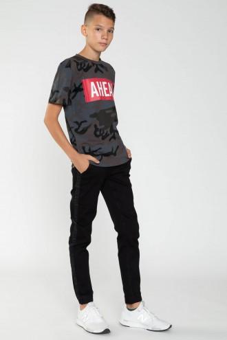 Czarne długie spodnie dla chłopaka
