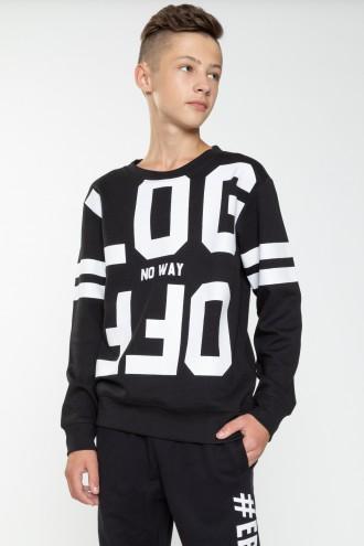 Czarna bluza chłopięca LOG OFF