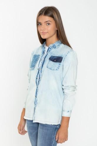 Jeansowa koszula dla dziewczyny