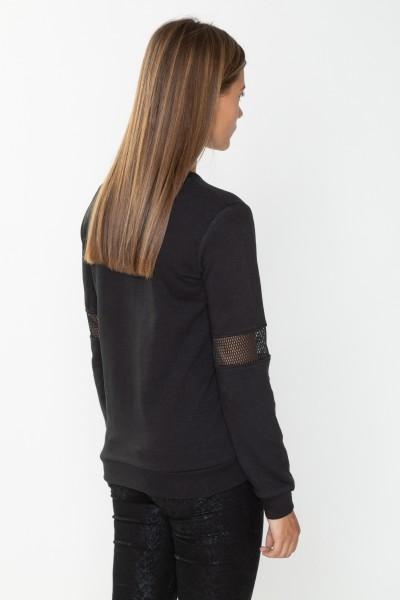 Czarna bluza z nadrukiem holograficznym