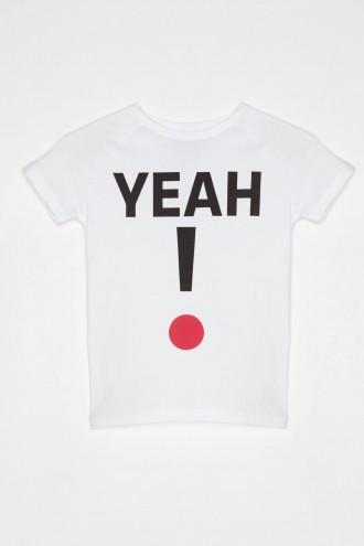 Biały T-shirt dla dziewczyny YEAH