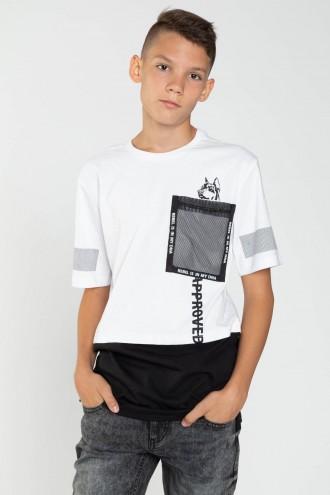Biały T-shirt dla chłopaka