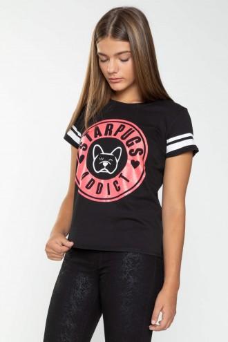 Czarny T-shirt STARPUGS