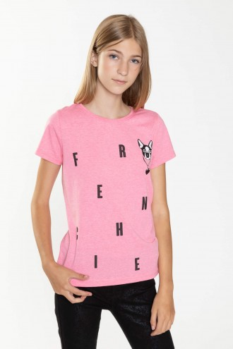 Różowy T-shirt FRENCHIE