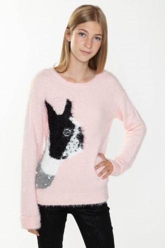 Różowy sweter DOG dla dziewczyny