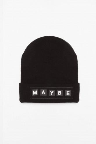 Czarna czapka MAYBE