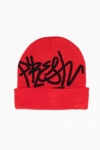 Czerwona czapka FRESH
