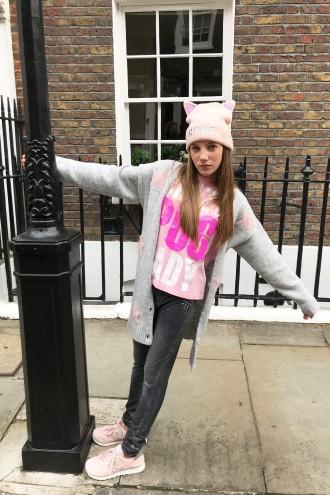 Różowy T-shirt CRAZY
