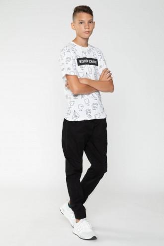Czarne spodnie materiałowe dla chłopaka