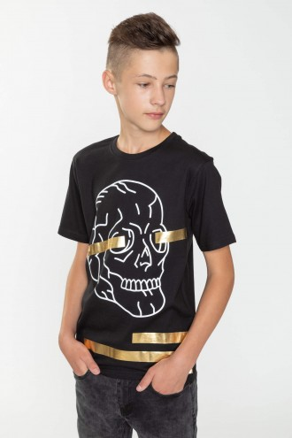T-shirt w złoty nadruk dla chłopaka