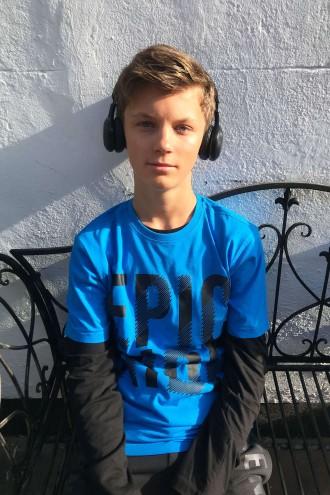 Niebieski T-shirt EPIC RIDE dla chłopaka