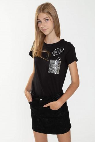 T-shirt z ozdobną kieszonką BOO dla dziewczyny
