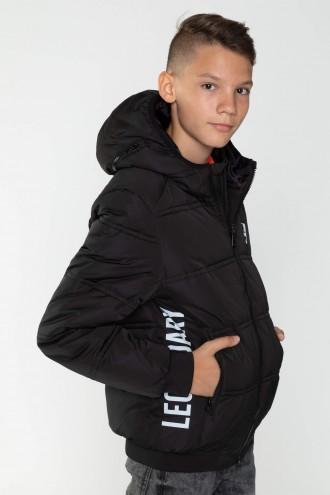 Czarna zimowa kurtka dla chłopaka