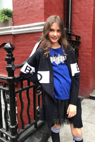 Granatowy T-shirt BAT GIRL