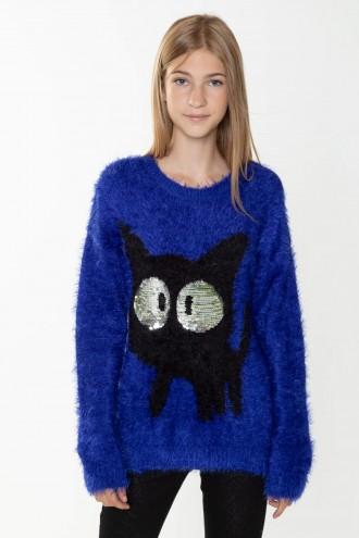 Niebieski sweter CAT