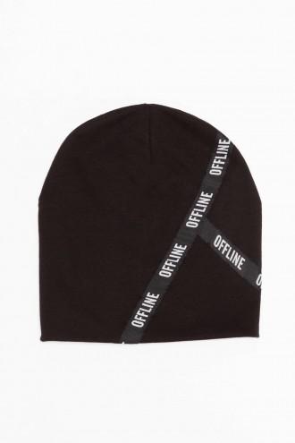 Czarna czapka dla chłopaka OFFLINE