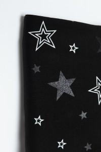 Czarny komin w gwiazdy dla dziewczyny