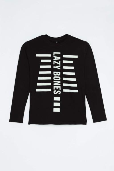 Czarna piżama dla chłopaka LAZY BONES