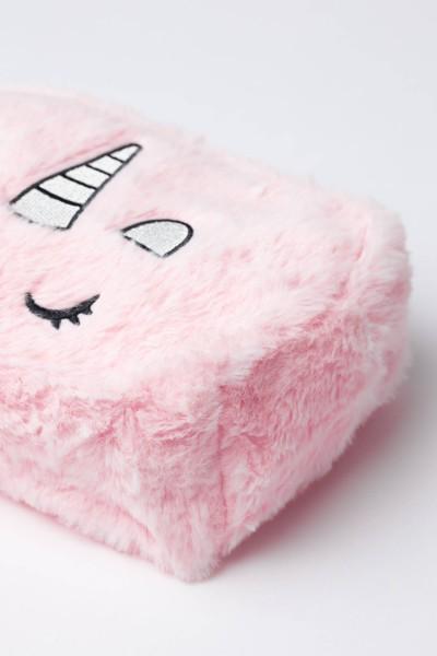 Różowa pluszowa kosmetyczka