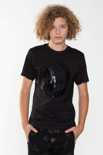 Czarny T-Shirt z nadrukiem dla chłopaka