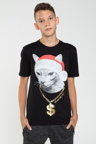 T-shirt świąteczny KITTY
