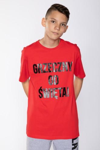 T-shirt świąteczny GRZECZNY
