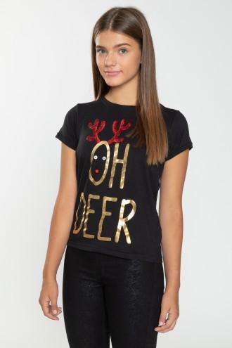 Świateczny T-shirt OH DEER