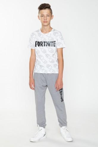 Szare dresowe spodnie dla chłopaka