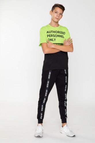 Spodnie dresowe z lampasem dla chłopaka