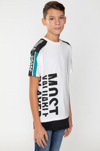 T-Shirt z ozdobnymi nadrukami dla chłopaka