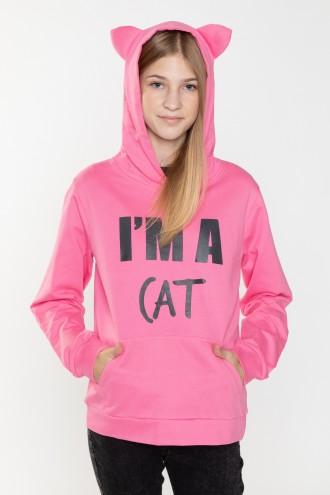 Bluza dla dziewczyny różowa CAT