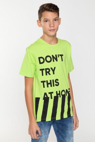 Limonkowy T-shirt dla chłopaka