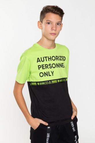 Dwukolorowy T-Shirt dla chłopaka AUTHORIZED