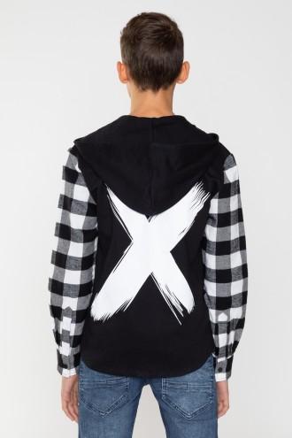 Rebelowa koszula z kapturem dla chłopaka X