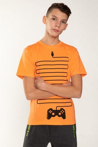 Pomarańczowy T-shirt dla chłopaka GAMER