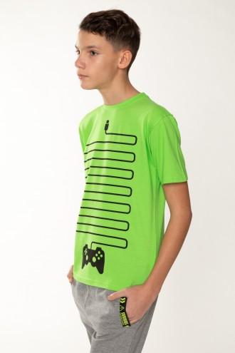 Zielony T-shirt dla chłopaka GAMER
