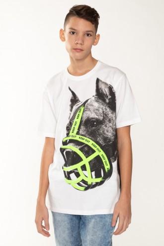 T-shirt dla chłopaka z nadrukiem TROUBLEMAKER