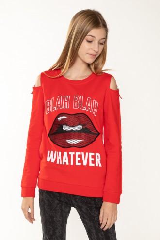 Czerwona bluzka dla dziewczyny WHATEVER