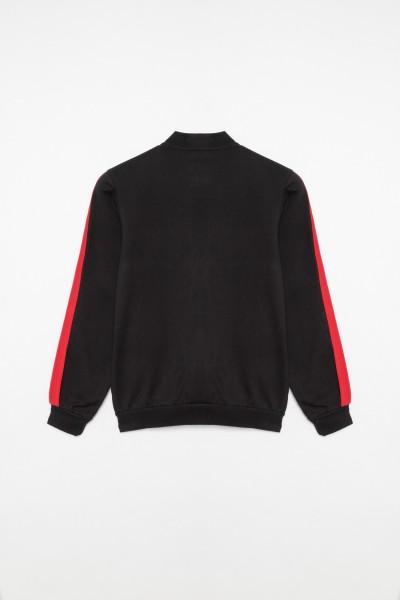 Rozpinana bluza z czerwonym lampasem dla chłopaka