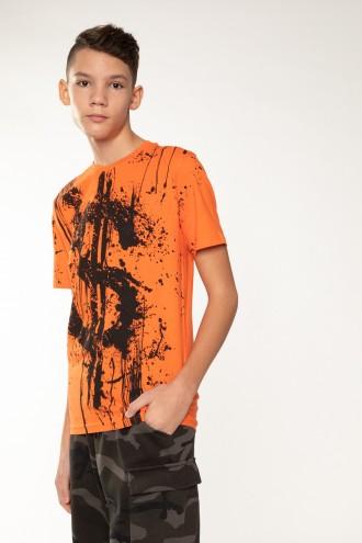 Pomarańczowy T-Shirt DOLAR
