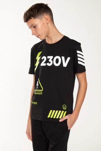 Czarny T-Shirt dla chłopaka  230V