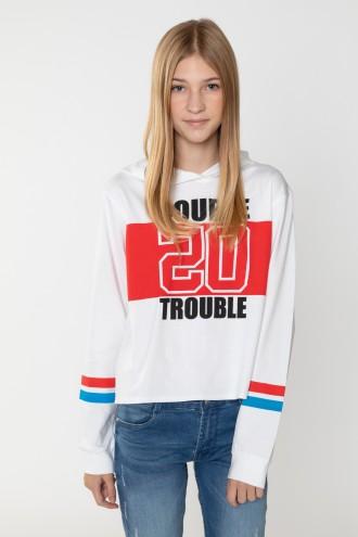 Krótka bluza z kapturem DOUBLE TROUBLE
