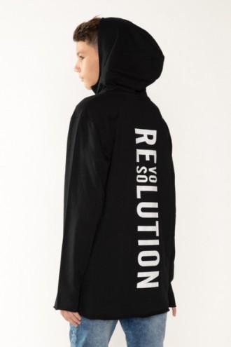 Czarna bluza z kapturem REVOLUTION