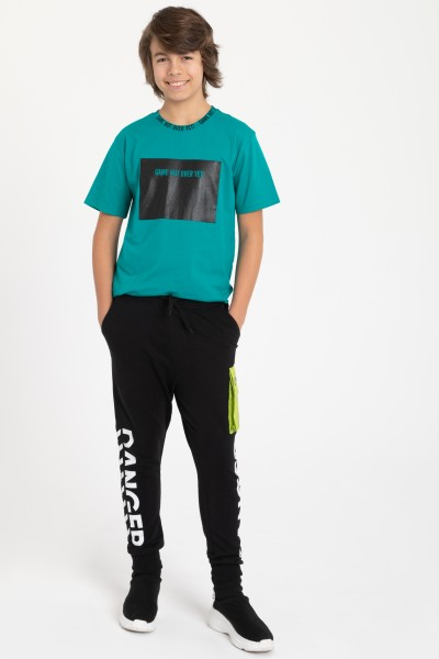 Czarne spodnie dresowe DANGER