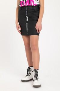 Czarna spódnica z ozdobnym lampasem